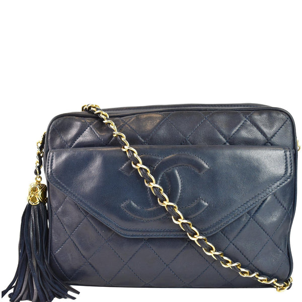 Chanel Front Pocket Quilted Lambskin Leather Camera Bag