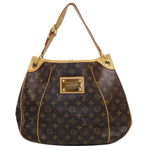 LOUIS VUITTON Galliera PM Monogram Canvas Shoulder Bag Brown