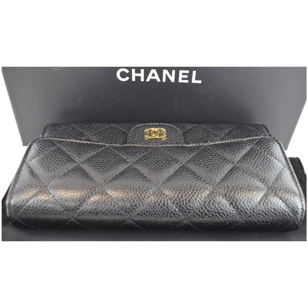 Chanel Large Flap Quilted Caviar Leather pouch