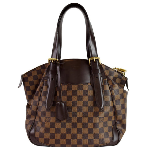 LOUIS VUITTON Verona MM Damier Ebene Shoulder Bag Brown