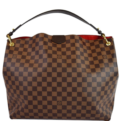 LOUIS VUITTON Graceful MM Damier Ebene Shoulder Bag Brown