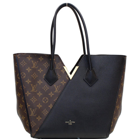 LOUIS VUITTON Kimono Monogram Calfskin Tote Bag Brown/Black