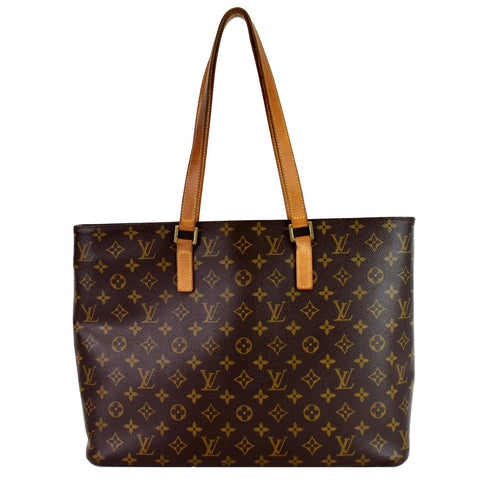 LOUIS VUITTON Luco Monogram Canvas Tote Bag Brown