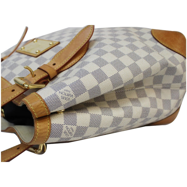 authentic lv Hampstead PM Damier Azur Shoulder Bag