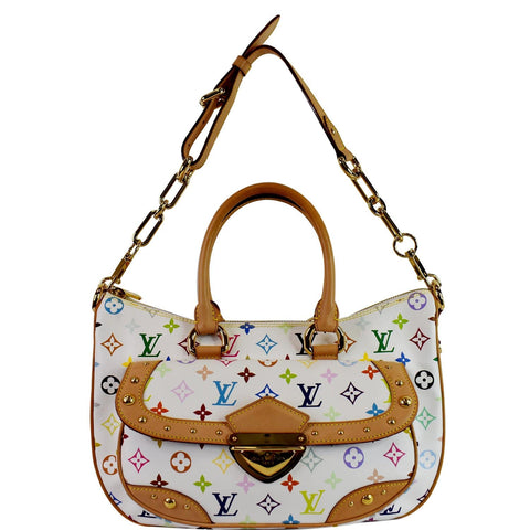 LOUIS VUITTON Rita Multicolor Monogram Shoulder Bag White