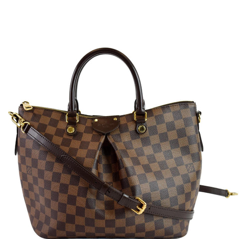 LOUIS VUITTON Siena PM Damier Ebene Shoulder Bag Brown