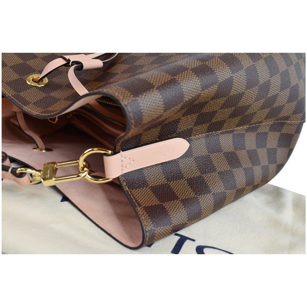 LOUIS VUITTON Neonoe MM Damier Ebene Crossbody Bag Rose