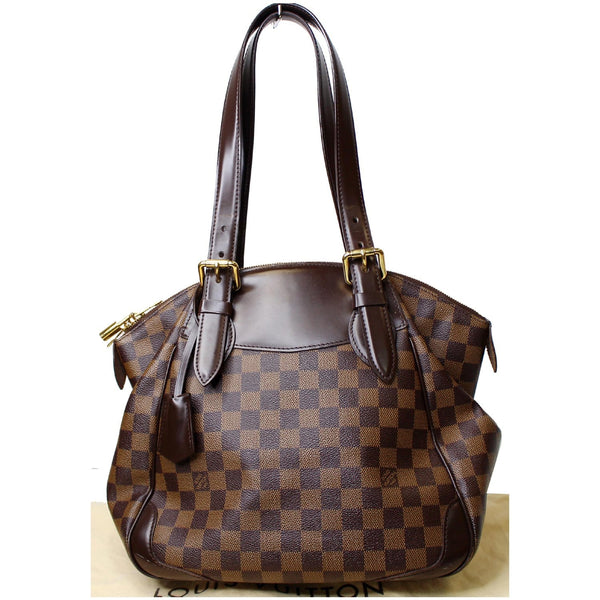 customer view LV Verona MM Damier Ebene Satchel Bag