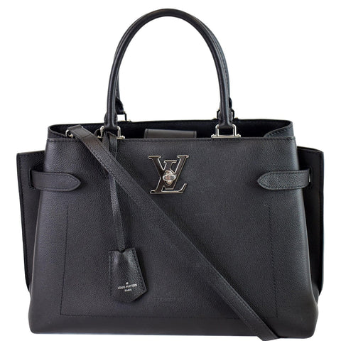 LOUIS VUITTON Lockme Day Grained Calf 2way Shoulder Bag Black