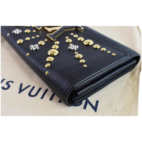Louis Vuitton Capucines Studded Leather Pouch Black