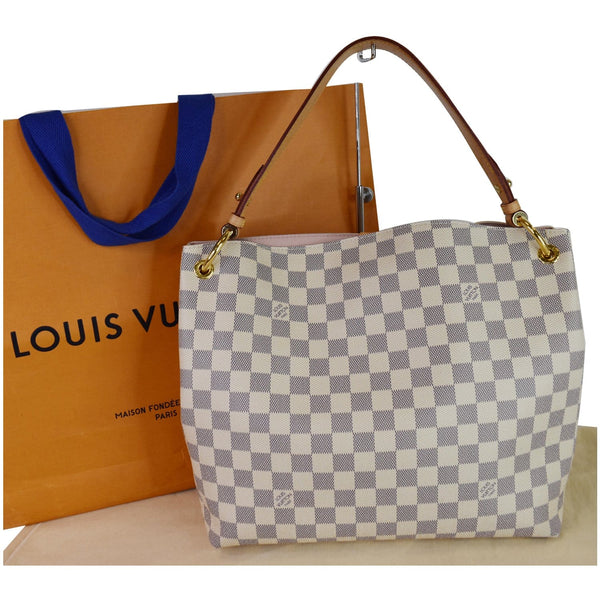 Louis Vuitton Graceful PM Damier Azur Shoulder Bag - customer look