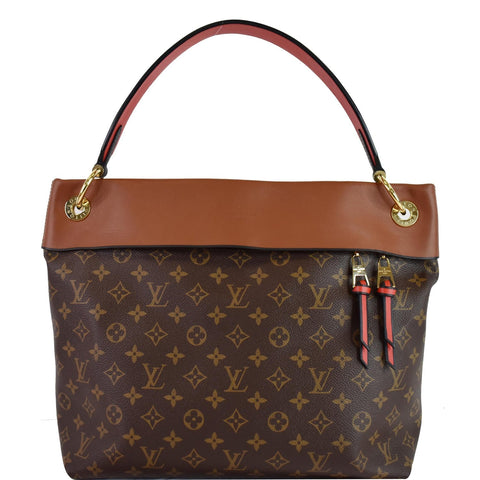 LOUIS VUITTON Tuileries Monogram Canvas Hobo Bag Caramel
