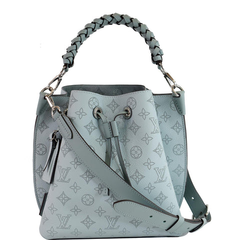 LOUIS VUITTON Muria Mahina Perforated Calf Leather Shoulder Bag Vert