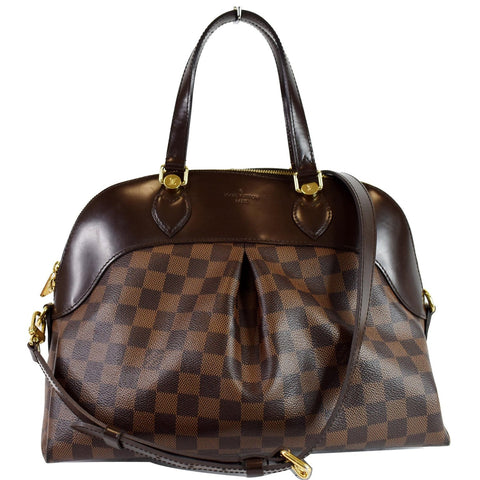LOUIS VUITTON Salvi Damier Ebene Shoulder Bag Brown