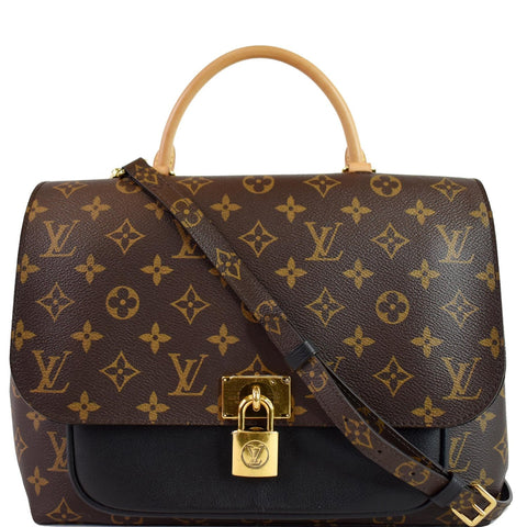 LOUIS VUITTON Marignan Monogram Canvas Messenger Shoulder Bag Brown