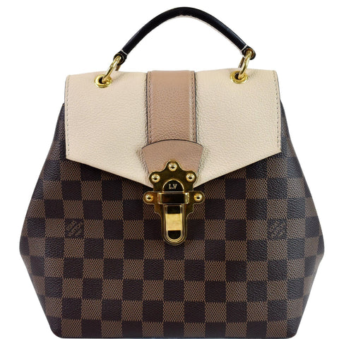 LOUIS VUITTON Clapton Damier Ebene Backpack Bag Brown
