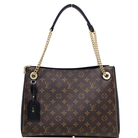 LOUIS VUITTON Surene MM Monogram Canvas Shoulder Bag Black