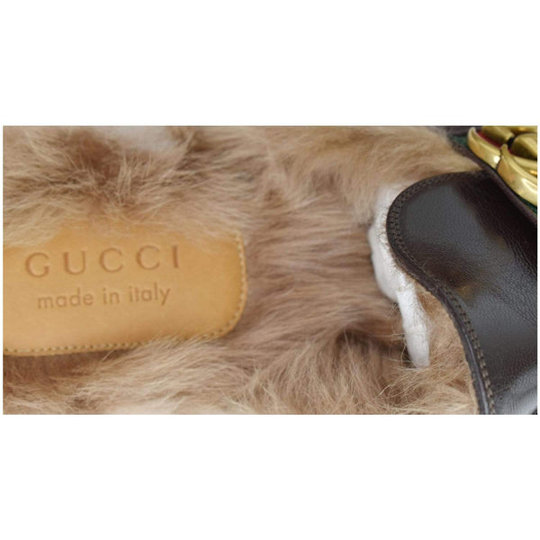 Gucci Princetown Fur Leather Slipper Cocoa Brown - made in Itlay