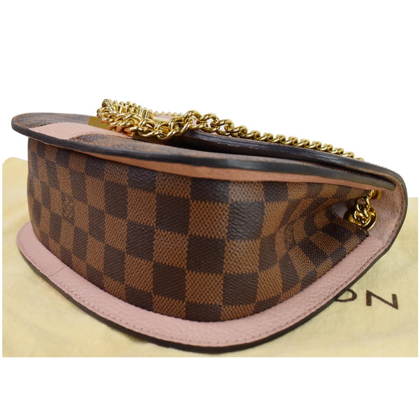 Louis Vuitton Wight Damier Ebene Crossbody Bag Magnolia - bottom side view