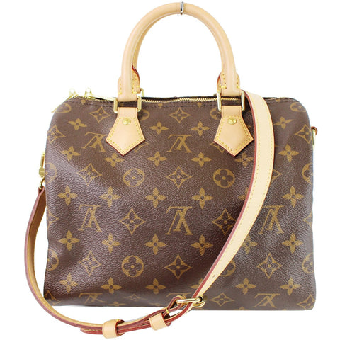 LOUIS VUITTON Speedy 25 Bandouliere Monogram Canvas Shoulder Bag Brown