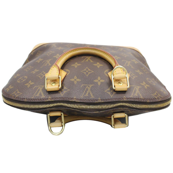 Louis Vuitton Alma Monogram Canvas Satchel Bag Brown -  zip