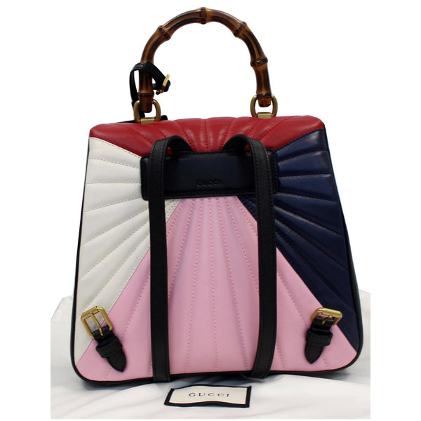 Gucci Queen Margaret Quilted Leather Bee Backpack multicolor