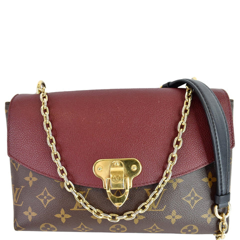 LOUIS VUITTON Saint Placide Monogram Canvas Crossbody Bag Bordeaux
