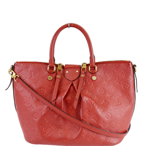 LOUIS VUITTON Mazarine MM Monogram Empreinte Shoulder Bag Red