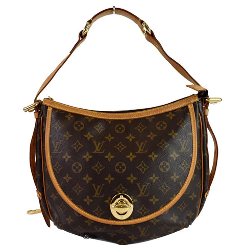 LOUIS VUITTON Tulum GM Monogram Canvas Shoulder Bag Brown