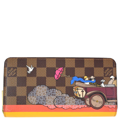 LOUIS VUITTON Monogram Canvas Illustre Evasion Insolite Wallet Brown