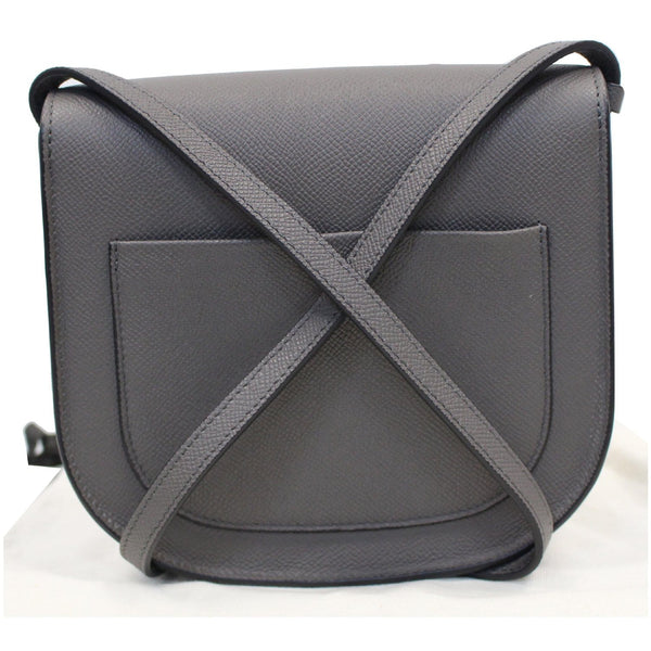 CELINE Trotteur Small Grained Calfskin Leather Shoulder Bag Grey