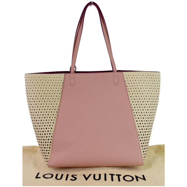 LOUIS VUITTON Lockme Cabas Perforated Leather Shoulder Bag Pink