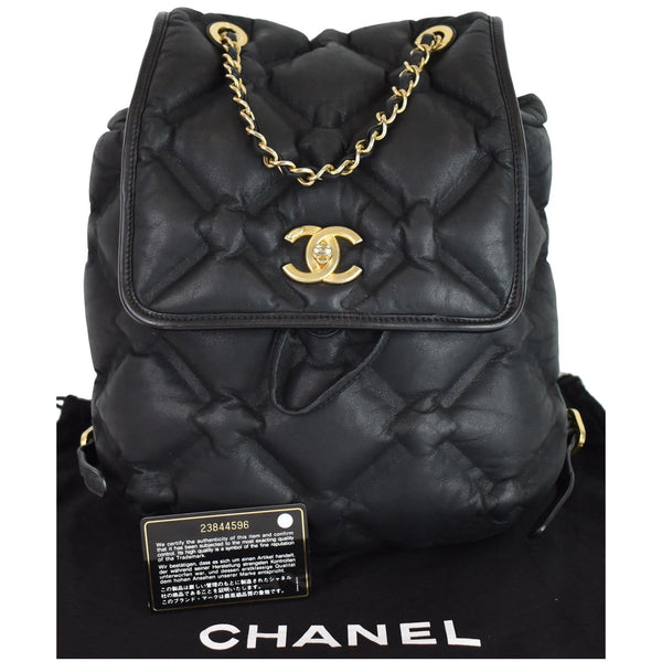 Chanel Chesterfield Quilted Calfskin Backpack bag