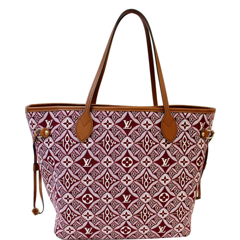 LOUIS VUITTON  Neverfull MM Since 1854 Jacquard Shoulder Bag Bordeaux Red