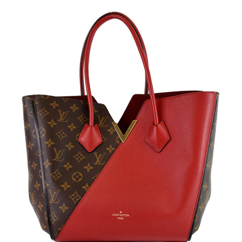 LOUIS VUITTON Kimono Monogram Calfskin Tote Bag Brown/Cerise