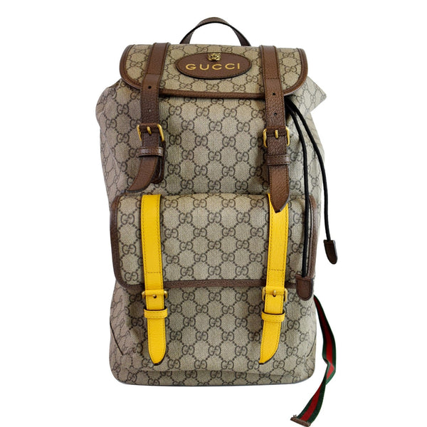 GUCCI Soft GG Supreme Canvas Backpack Bag Beige 473869