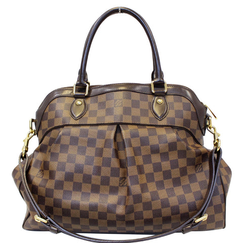 LOUIS VUITTON Trevi GM Damier Ebene 2way Shoulder Handbag Brown