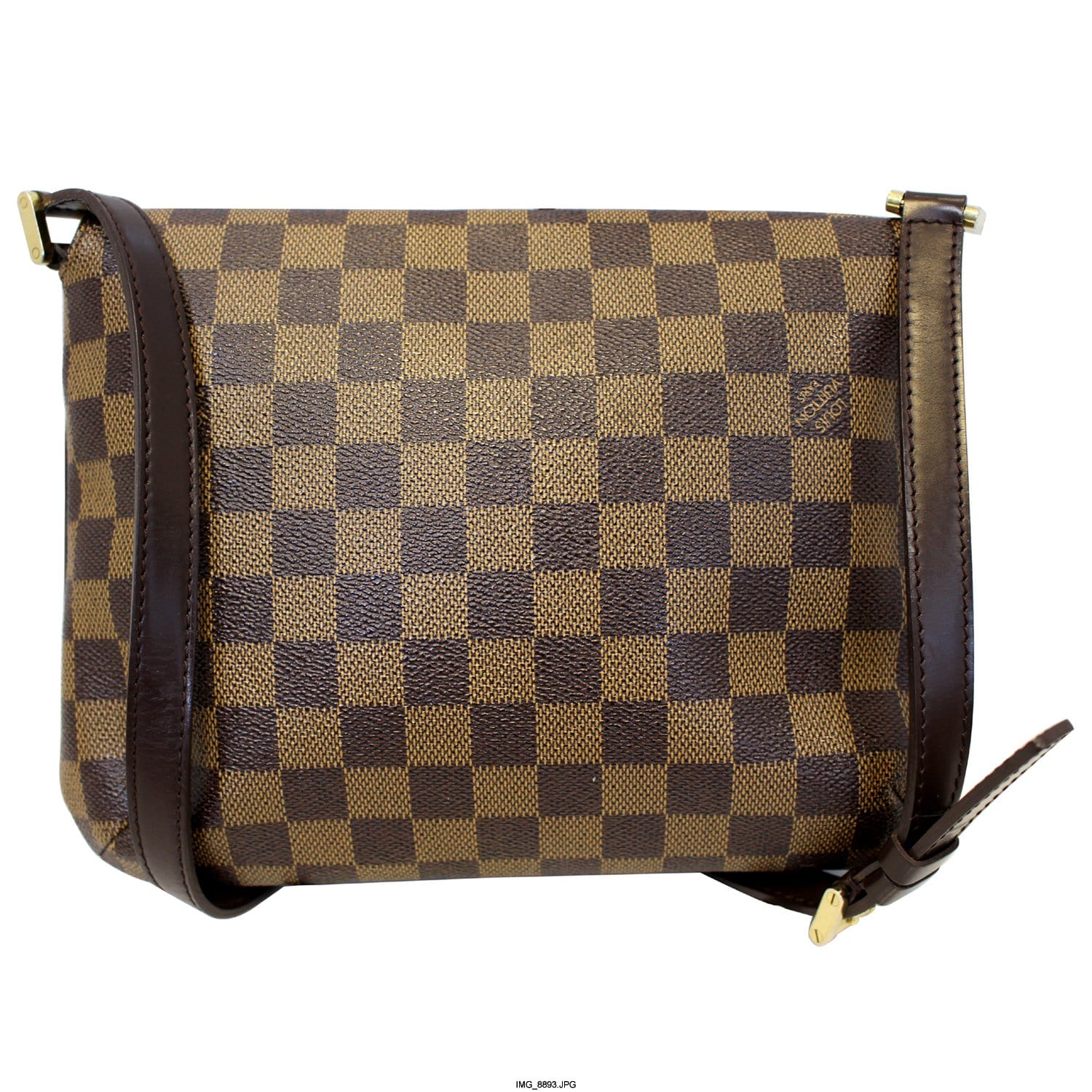 041d50a3d68d LOUIS VUITTON Musette Tango Damier Ebene Short Strap Shoulder Bag