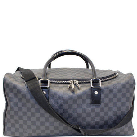 LOUIS VUITTON Roadster Damier Graphite Travel Bag Black