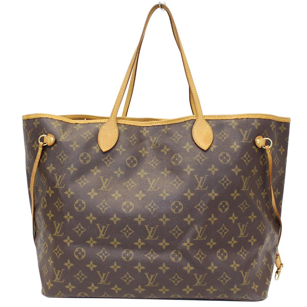 LV Neverfull GM Monogram Canvas Tote Bag- front view