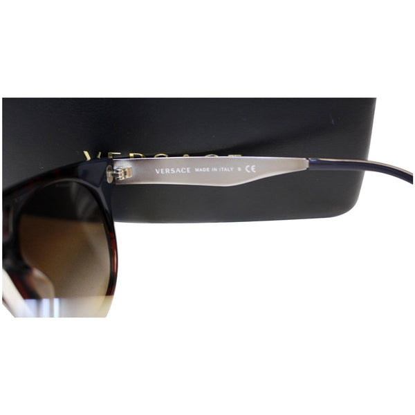 Brown Versace Sunglasses With Brown Frame- close up