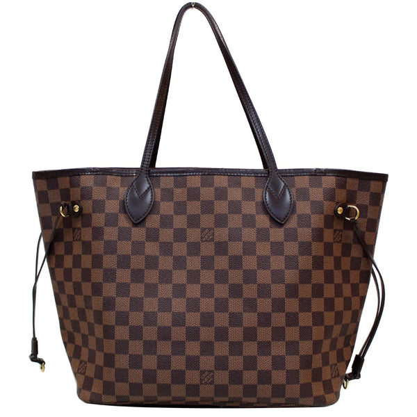Louis Vuitton Neverfull MM Damier Ebene Bag Brown with staps