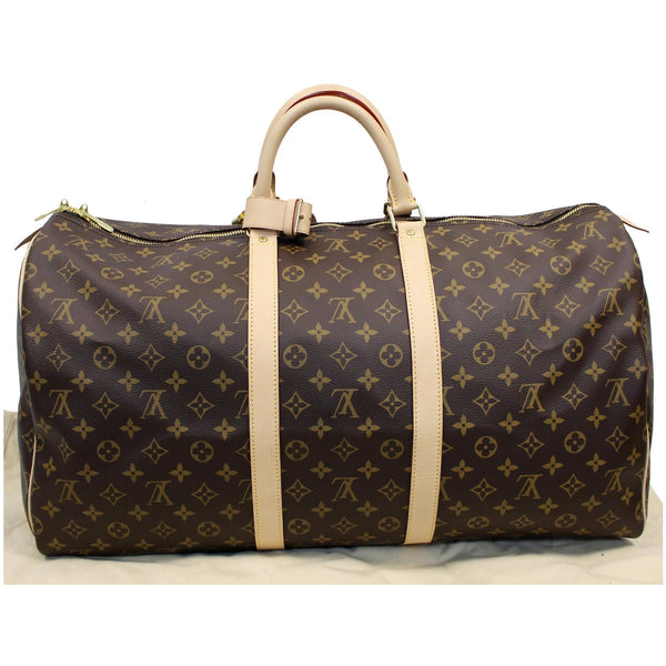 Louis Vuitton Keepall 55 Monogram Canvas Bostan Bag full view