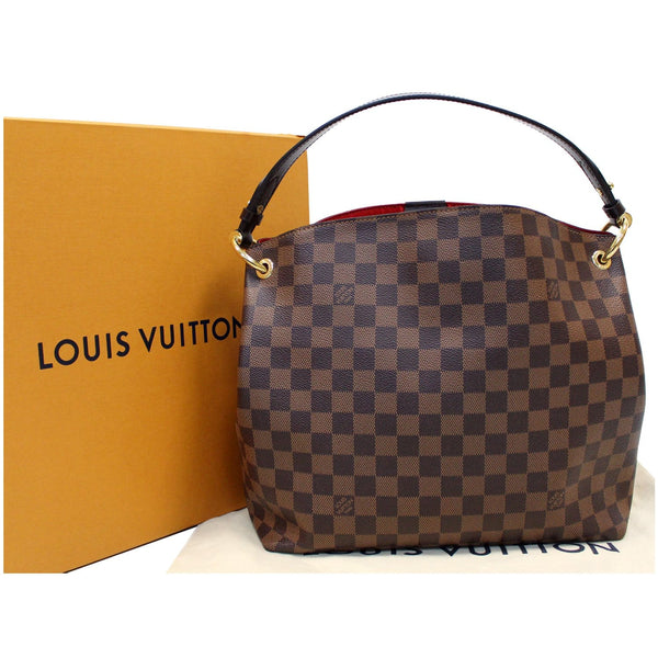 Louis Vuitton Graceful PM Damier Ebene Shoulder Bag full view