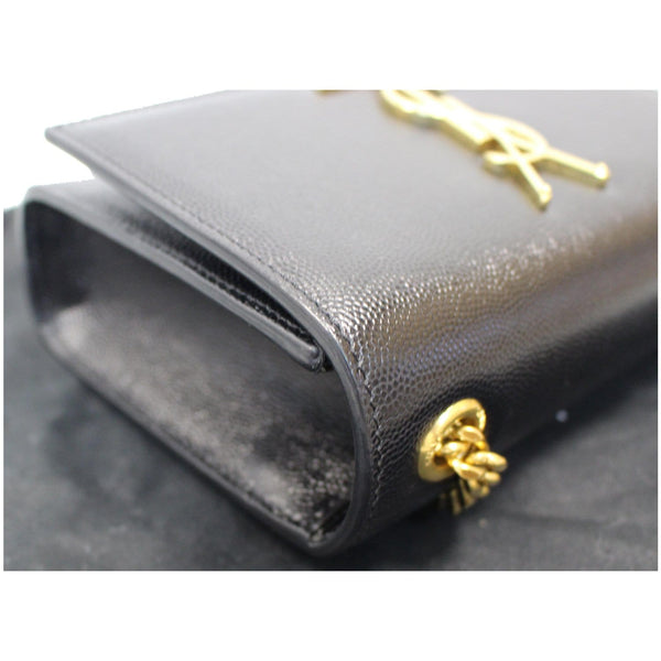 YVES SAINT LAURENT Kate Small Grain De Poudre Crossbody Bag Black