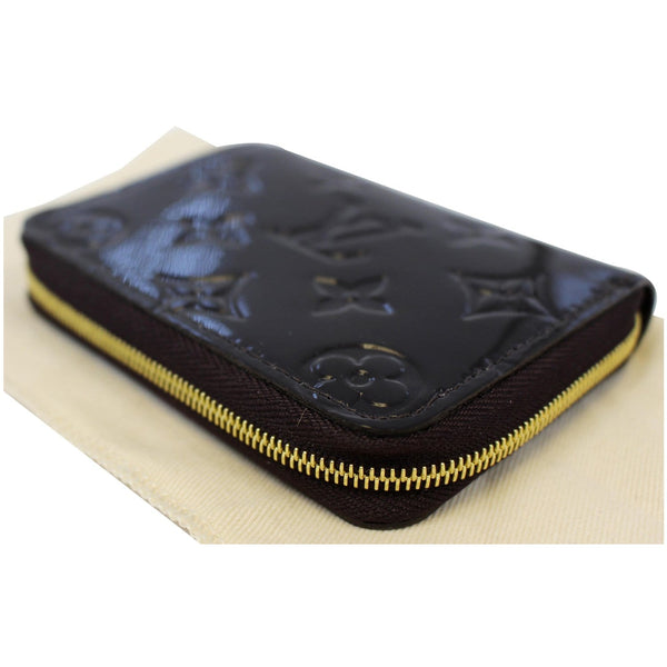 LOUIS VUITTON Vernis Zippy Coin Purse Wallet Amarante-US
