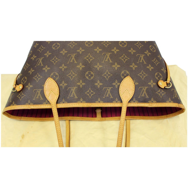 LOUIS VUITTON Neverfull MM Monogram Canvas Tote Shoulder Bag Brown