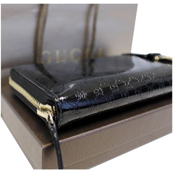 Gucci Wallet Nice Microguccissima Patent Leather black