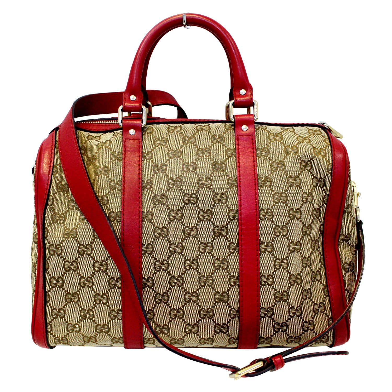 6414993bf GUCCI GG Canvas Boston Shoulder Bag 247205-US