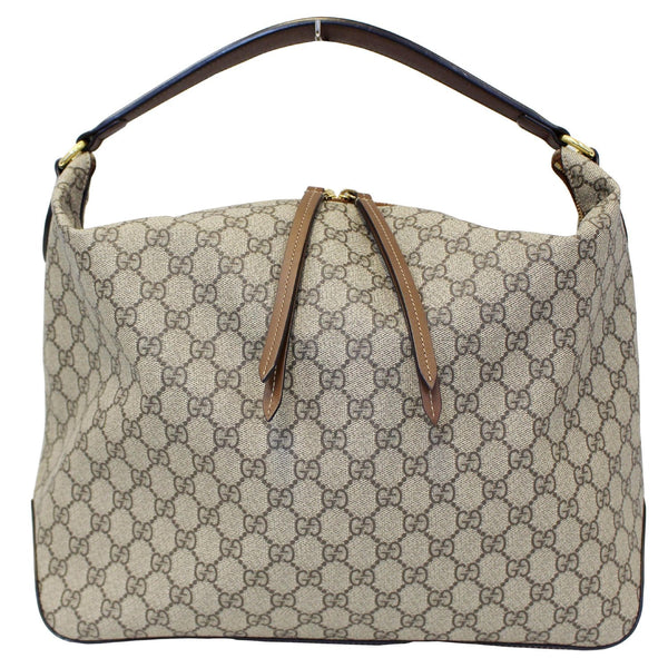 GUCCI GG Supreme Canvas Hobo Shoulder Bag Beige/Brown-US